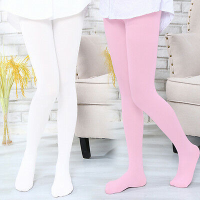 1x Baby Girls Elastic Tights Stockings Pantyhose Kids Solid Velvet Dancing Socks
