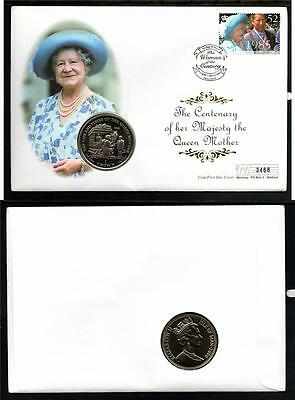 Isle Of Man 2000 The Century Of The Queen Mother 1 Crown  Coin Cover