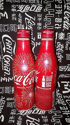 rare japan Coca coke Cola summer of the fireworks Aluminum bottle empty 250ml