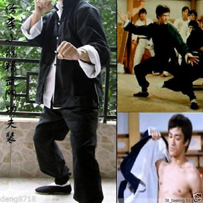 Bruce Lee Kung-Fu 3 Pieces Suit Costume Martial Arts Wing Chun Outfits Uniform