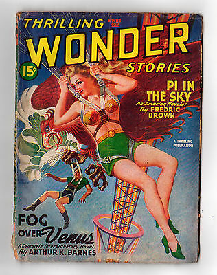 THRILLING WONDER STORIES  Winter 1945 cover date  (USA Science Fiction Pulp)