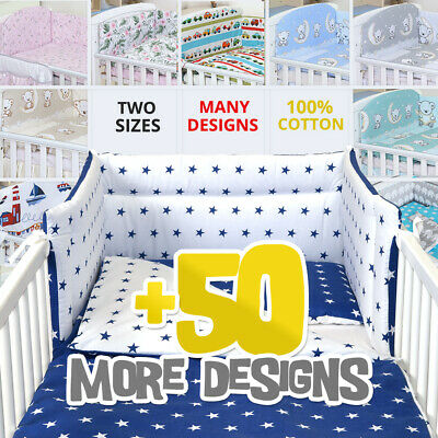 2/3/5 Piece Baby Bedding Set fit Cot 120x60cm or Cot Bed 140x70 -BABY GIRL BOY-