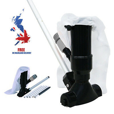 Jet Vac Vacuum Cleaner For Swimming Pool Spa & Hot Tub + 5 Piece Pole Attachment