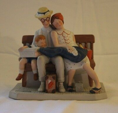 """Norman Rockwell Figurine - """"Home from Vacation"""" Danbury Mint - Series II"""