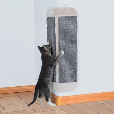 Light Grey Corner Scratching Board Scratch Mat With Plush Edge For Cat Kitten