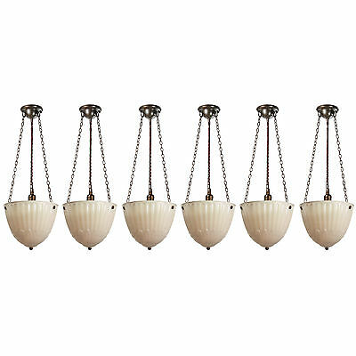 Antique Inverted Dome Pendant Lights, Early 1900s, 3 Available, NC2861