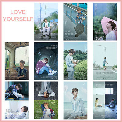 Kpop BTS Bangtan Boys LOVE YOURSELF Hanging Painting Art Wall Scroll Poster