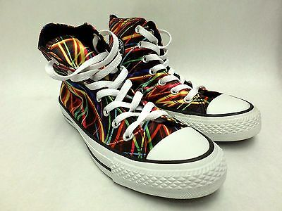 Converse All Star High Top Sneakers MultiColor Lines Mens Size 4 Womens Size 6