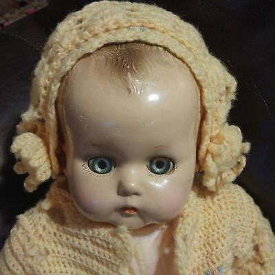 "Vintage 1940s Arranbee Little Angel Baby Doll 21"" tall"