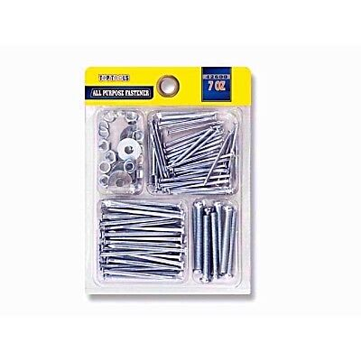 7oz All Purpose Metal Nail Assortment Pack and Washers Kit