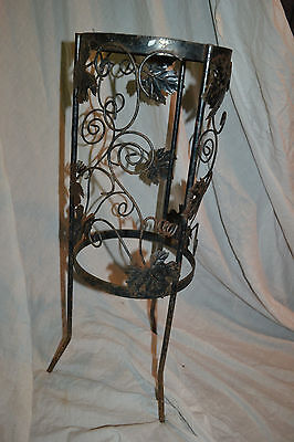 Vintage Ornate Mid Century Wrought Iron Plant Stand Primitive Home  Garden