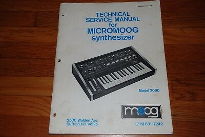 ORIGINAL MicroMoog 2090 Technical Service Manual, Moog Music Inc,1976 Buffalo NY
