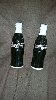 Coca Cola Contour Bottle Salt and Pepper Shakers NEW without box