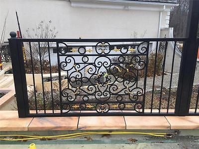 Hand Wrought Custom Iron Fence Panels - Wrought Iron Custom Fence - Asp3A