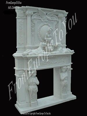 Best Carved Marble Figural Fireplace Mantel Fpm19