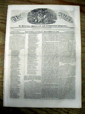 1829 newspaper ANDREW JACKSON speech on His INDIAN REMOVAL POLICY Trail of Tears