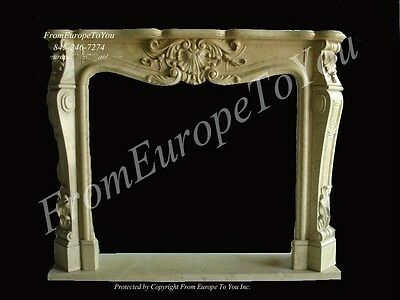 Nice Hand Carved Marble Fireplace Mantel #mbf109