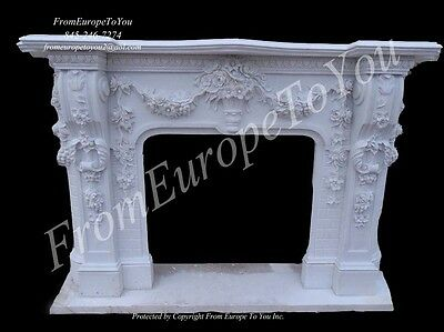 Beautiful Hand Carved Marble Fireplace Mantel Fpm90