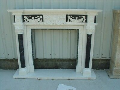 Hand Carved Marble Classical Fireplace Mantel- Mnt1