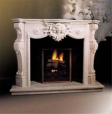Hand Carved Marble Classical Fireplace Mantel Tlh085