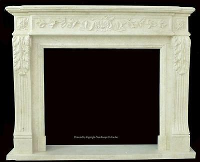 Beautiful Hand Carved Marble European Design Marble Figural Fireplace Mantel Z97