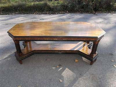 Beautiful Italian Vintage Antique Designer Walnut Dining Room Table - 13It075D