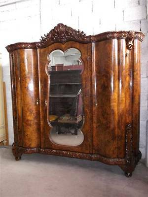 Beautiful Italian Chippendale  Style Bedroom Set Armoire - 14It024A
