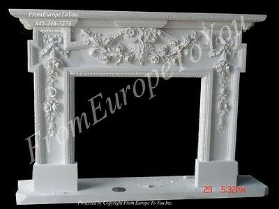Nice Hand Carved Marble Fireplace Mantel Fgd041