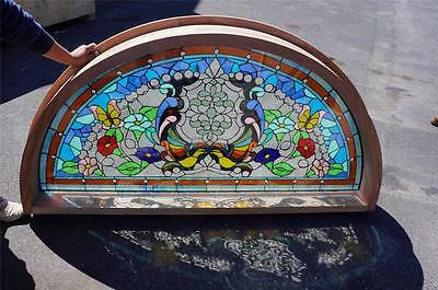 Beautiful Custom Made Stained Glass Transom Estate Window - Cw9