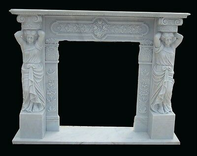 Best Hand Carved Marble Figural Fireplace Mantel Mbr095