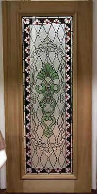 Beautiful Stained Glass Mahogany Entry Door -