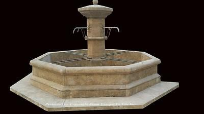 Beautiful Antique Stone French Style Estate Yard Garden Fountain - Asf87