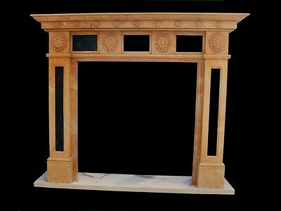Hand Carved Marble Classical Fireplace Mantel Lm040