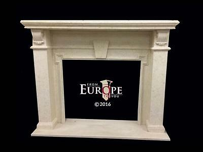 Beautiful Hand Carved Marble  European Design  Fireplace Mantel - Jd315