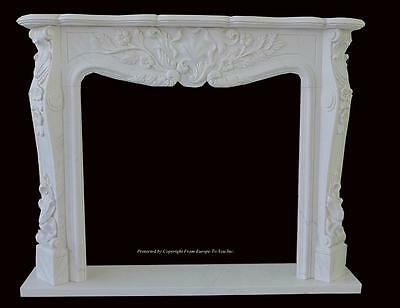Beautiful Hand Carved Marble European Design Marble Figural Fireplace Mantel Z11