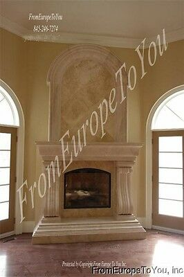 Hand Carved Travertine Marble Fireplace Mantel Fpm265