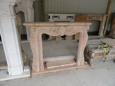 Hand Carved French Style Marble Fireplace Mantel #mfp346