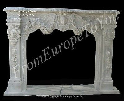 Nice Hand Carved Marble Fireplace Mantel Fgd043