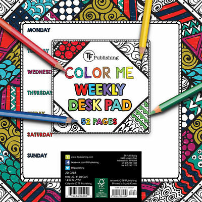 Color Me Weekly Desk Pads / Mousepads, Qty 3  NEW ~ Free Shipping