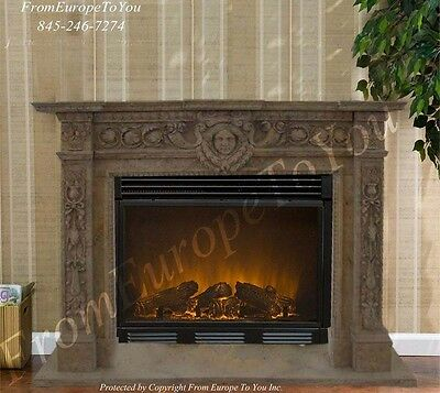 Nice Hand Carved Marble Fireplace Mantel 09Ss3