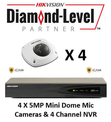 5MP 4CH Hikvision CCTV Microphone Kit *AUTHORISED SELLER- ENGLISH VERSION*