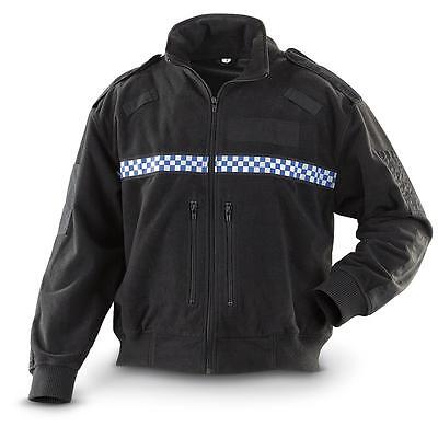 NEW Genuine Ex Police British Surplus BLACK Fleece Jacket Gore Windstopper Liner