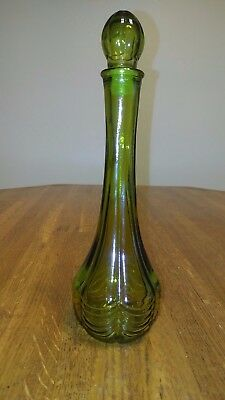 Vintage Avon Green Vase With Stopper