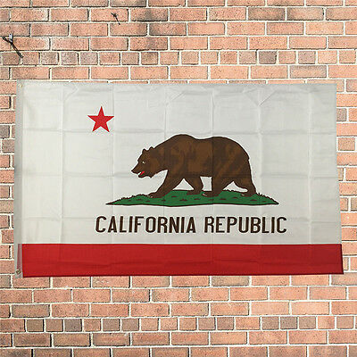 3' x 5'FT Polyester California STATE FLAG Republic CA USA Grommets Bear America