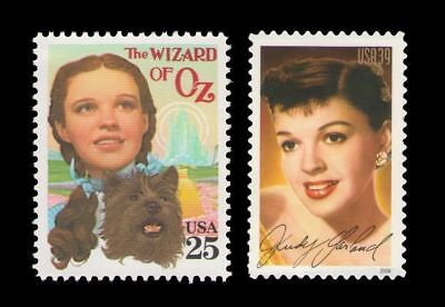 Wizard of Oz Dorothy Judy Garland Toto Mint Vintage US Postage Stamp Set