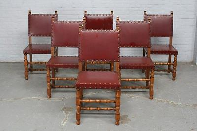 Carved Oak French Antique  Dining Room Set Dining Chairs - 16Be6741C