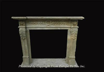 Hand Carved Antique Stone Style Fireplace Mantel - Jps600