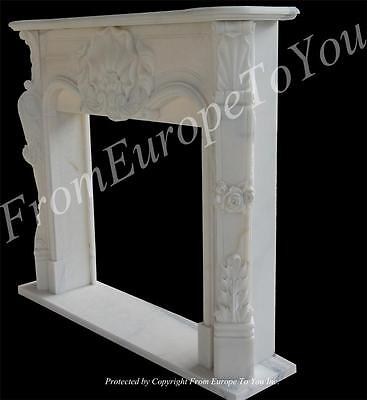 Hand Carved French Style Marble Fireplace Mantel - Tl016A