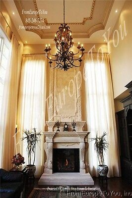 Hand Carved 14' Marble Fireplace Mantel 10-Fety3