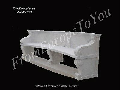 Nice Hand Carved Marble Victorian Style Bench